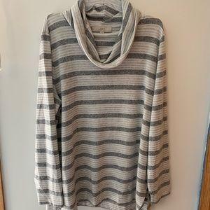 Loft striped cowl neck sweater